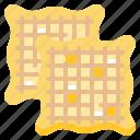 bakery, dessert, fastfood, food, waffle icon