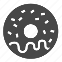donut, round, yummy icon