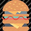 burger, cheeseburger, cooking, fast food, food, hamburger, restaurant icon