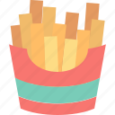 eat, fast, food, french, fries, potato icon