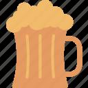 beer, mug, alcohol, beverage, drink, foam, pub