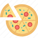 pizza, cooking, eating, food, italian, restaurant, slice