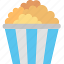 bucket, cinema, eating, food, movie, popcorn icon