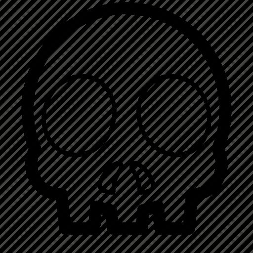 bone, death, fatal, skull icon