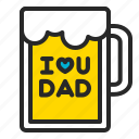 alcohol, beer, beer mug, drinking, father's day, glasses, pitcher icon