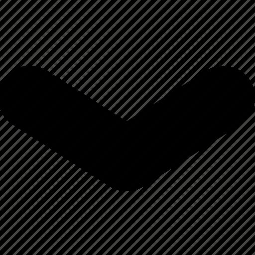 arrow, chevron, direction, down, narrow icon