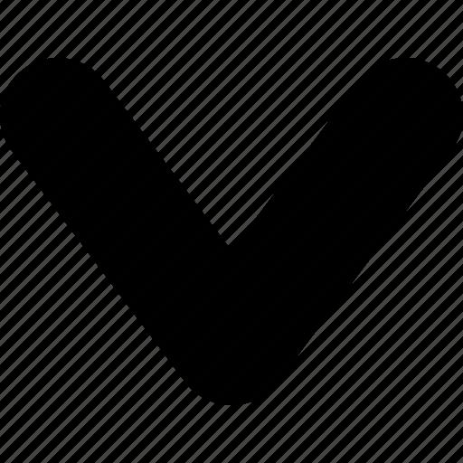 arrow, chevron, direction, down, wide icon