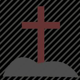 cross, dead, death, grave icon