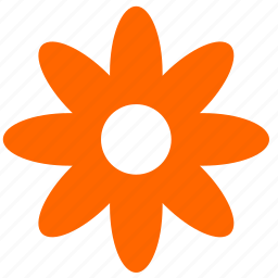 flower, nature, orange, plant icon