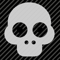 dead, funny, head, skull icon