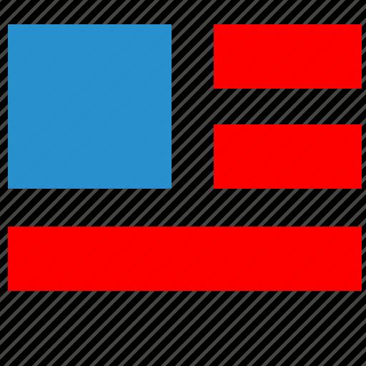 america, colors, flag, national, usa icon