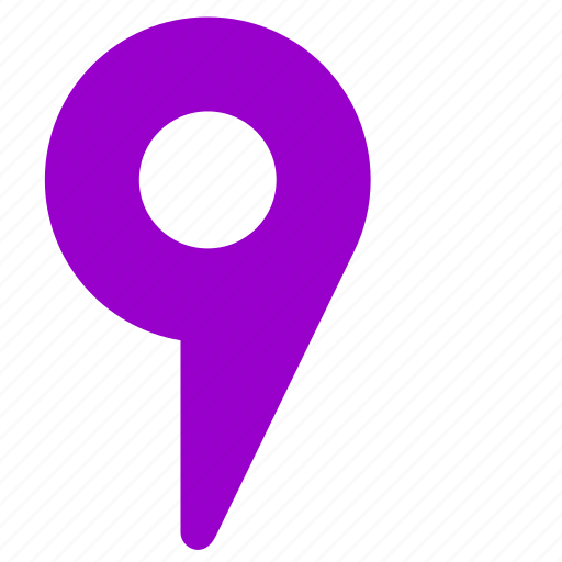 location, place, pointer, violet icon