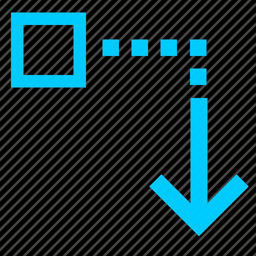 down, download, file, transfer icon