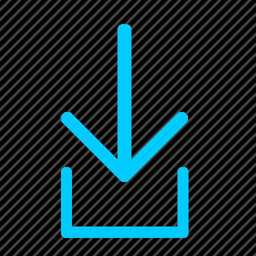 down, download, file, loading, transfer icon