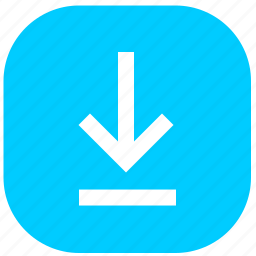 download, flie, function, rounded, square, transfer icon