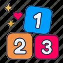 number, abc, letter, blocks, block, cubes, kids
