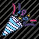 amusement, carnival, circus, confetti, parade, party, popper