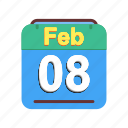 calendar, date, feb, february, schedule icon, we icon