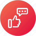 feedback, like, rating, review icon