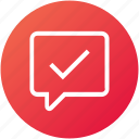 review, correct, support, feedback icon