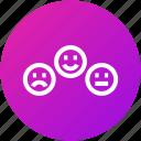 emoji, emotions, feedback, review icon