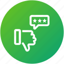 dislike, feedback, rating, review icon