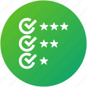 checklist, feedback, rating, review, test icon
