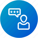 customer, feedback, rating, review, satisfaction icon