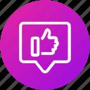 feedback, good, positive, response, review icon
