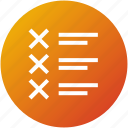 bad list, feedback, questionnaire, review, test icon