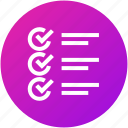 checklist, feedback, questionnaire, review, test