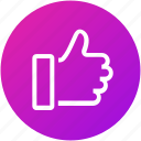 feedback, good, like, positive, review icon