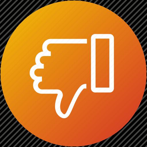 bad, feedback, negative, review, unlike icon
