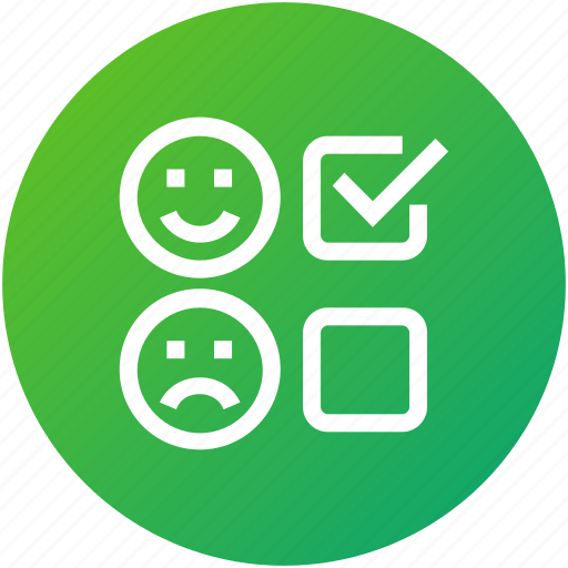 feedback, review, satisfied, survey, test icon