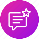 feedback, message, rating, review icon