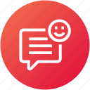 message, feedback, review, good, rating icon