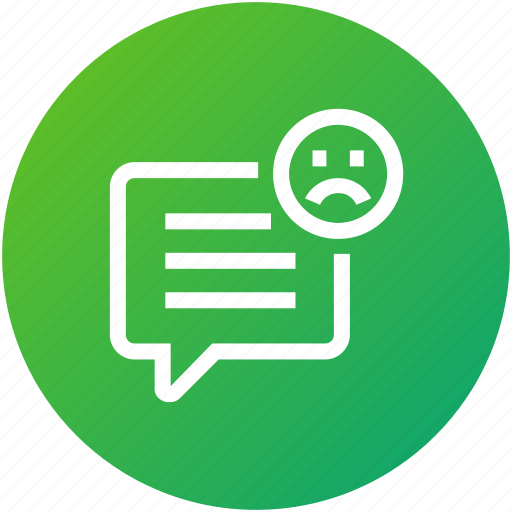 bad, feedback, message, rating, review icon