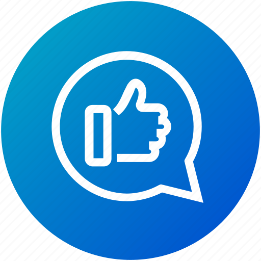 feedback, like, message, positive, review icon