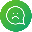 bad, emotion, feedback, message, review icon