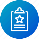clipboard, feedback, rating, review, survey icon