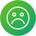 emotion, feedback, negative, review icon