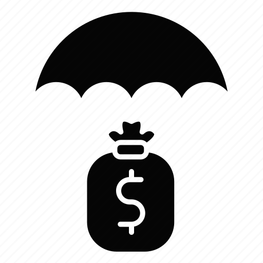 fees, funds, payment, protection, save, umbrella icon