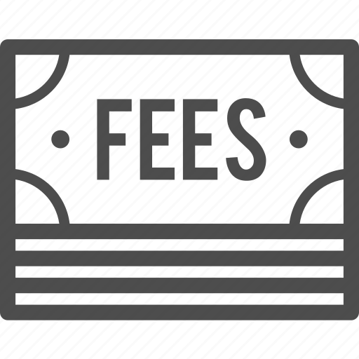 banknote, cash, commission, fee, fees, payment icon