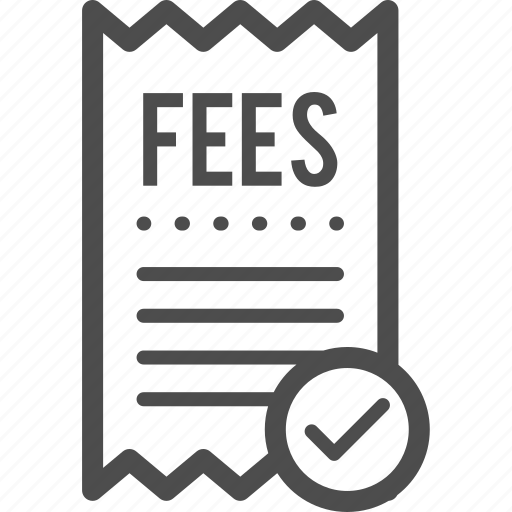 bill, fee, fees, paid, receipt icon