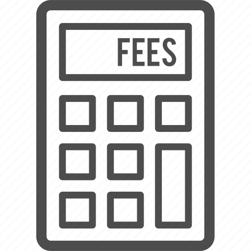 budget, calculator, fee, fees, payment icon