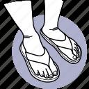 leg, sandal, shoes, flip flops, slipper, foot, feet icon