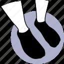 leg, socks, stocking, short, black, feet icon