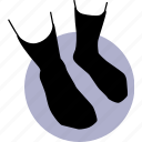socks, long, black, stockings, stocking, sock icon