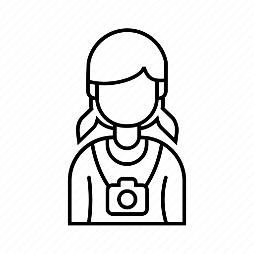 Female, girl, photographer, profile icon - Download on Iconfinder