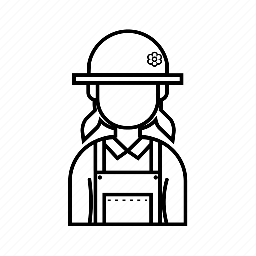 Female, girl, hat, profile icon - Download on Iconfinder